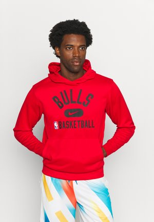 NBA CHICAGO BULLS SPOTLIGHT HOODIE - Club wear - university red