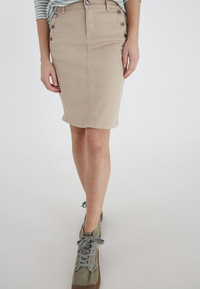 FRLOMAX  - Pencil skirt - oxford tan