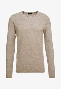 Selected Homme - SLHROCKY CREW NECK - Strikpullover /Striktrøjer - sepia/light grey melange - 3