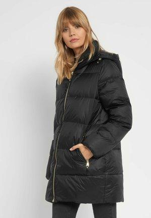 MIT KAPUZE - Down coat - schwarz