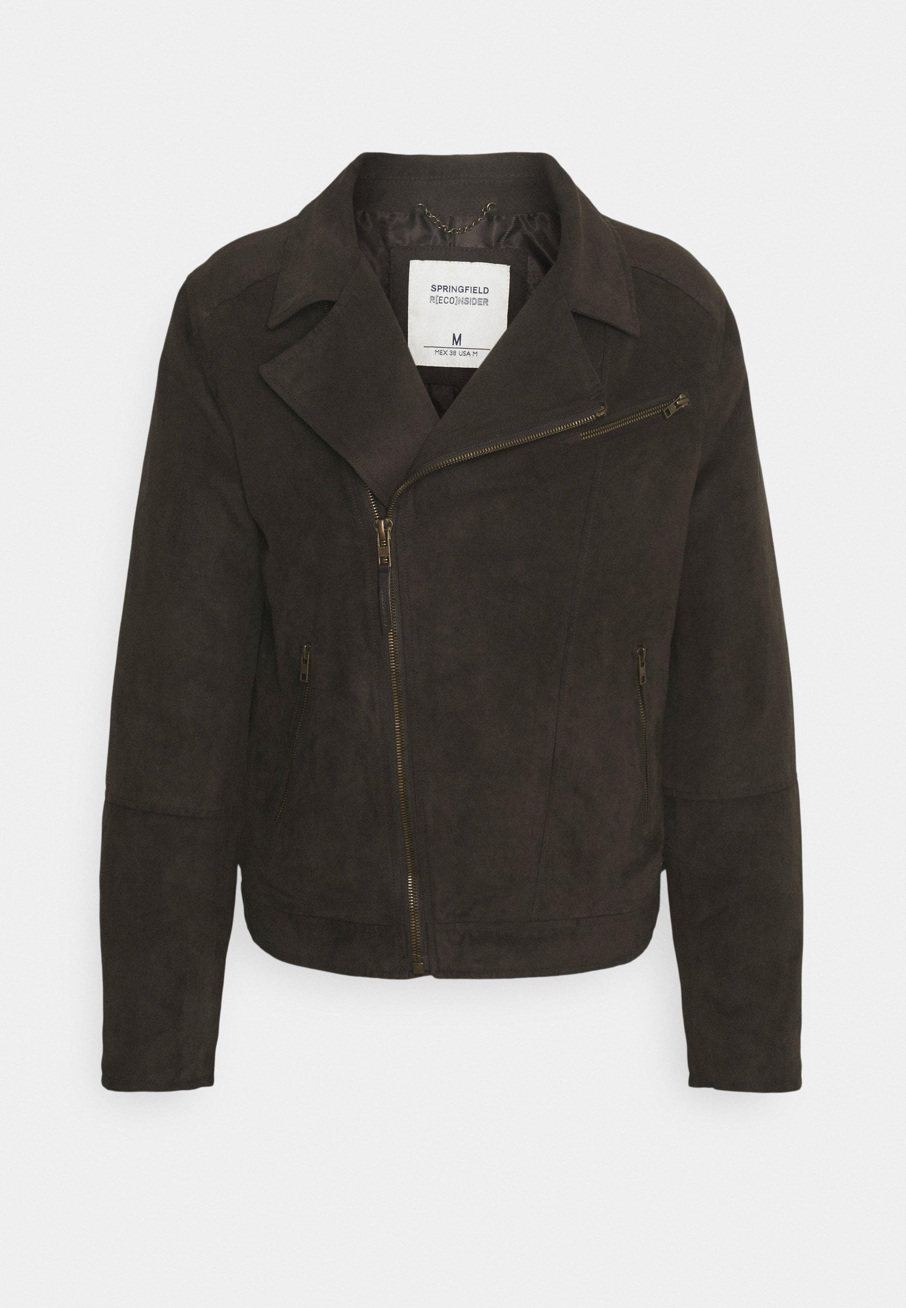 Men ANTELINA PERFECTO - Faux leather jacket