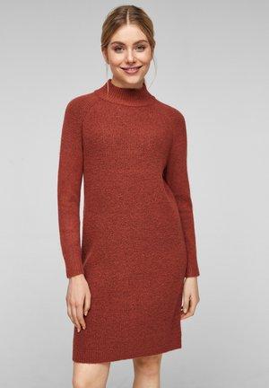 Jumper dress - rust red melange