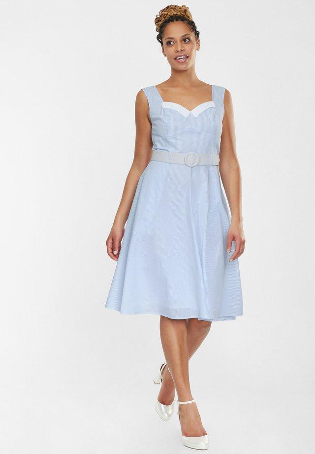 ROBBIE PREPPY STRIPE SWING - Day dress - blue