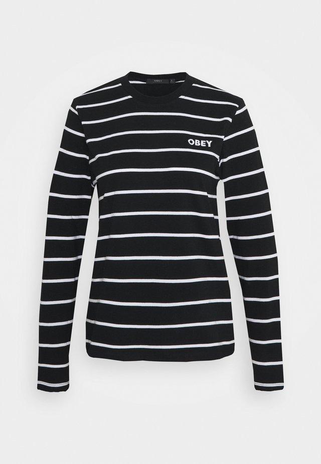 JAMES - Long sleeved top - black/multi