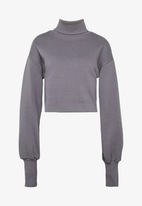 Nly by Nelly - HIGH POLO - Sweatshirt - grey - 3