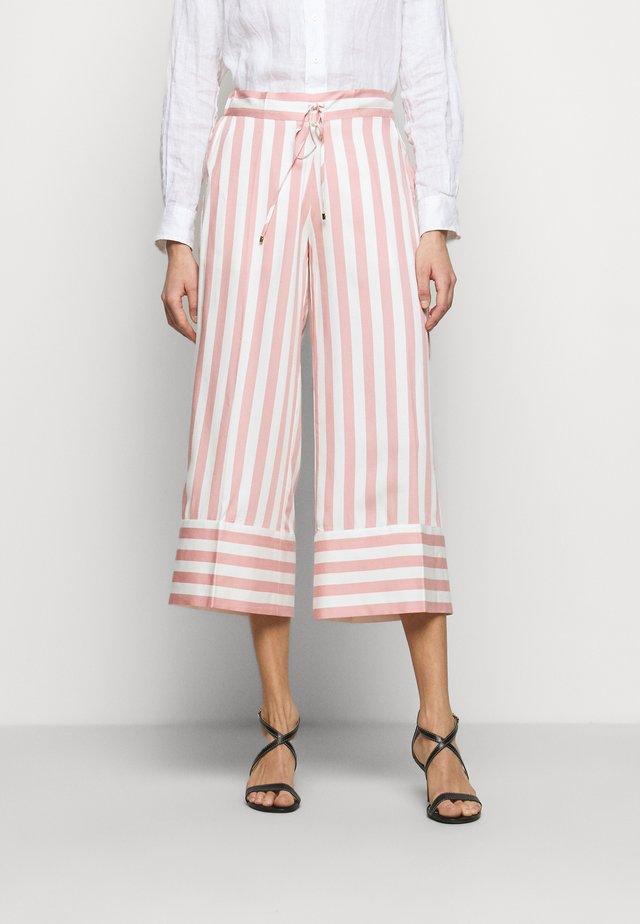 BOLD - Kalhoty - pink/white