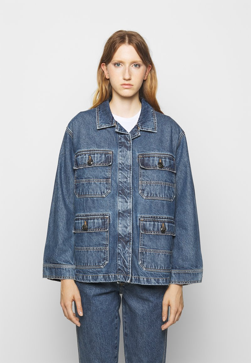CLOSED - DEAR - Giacca di jeans - mid blue wash
