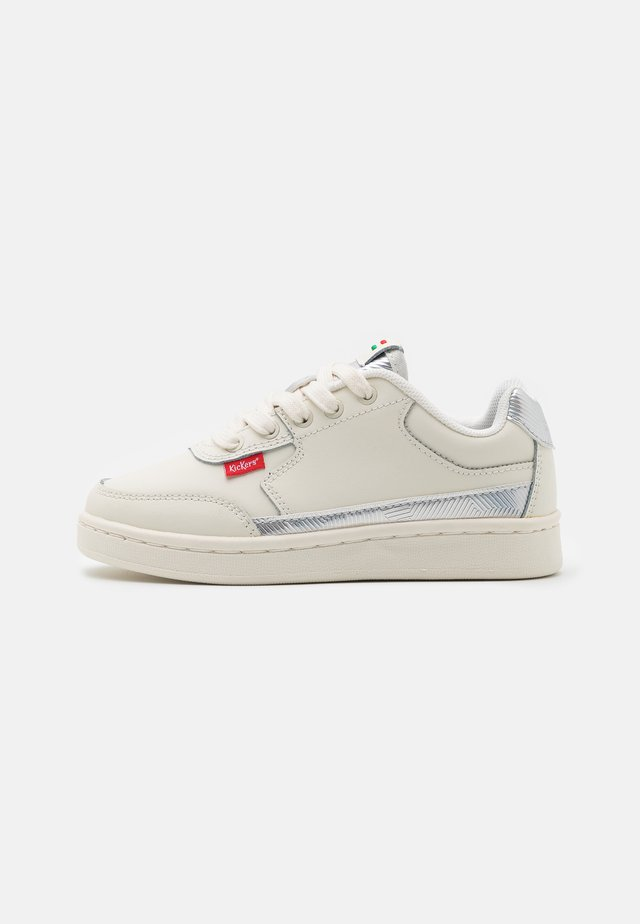 Sneakers laag - blanc/argent