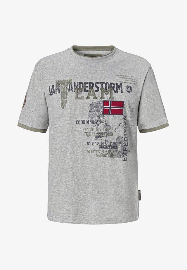 SÖLVE - T-shirt imprimé - grey