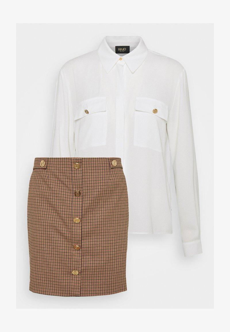 LIU JO - ABITO ALL IN ONE 2-IN-1 - Button-down blouse - natural/fuxia