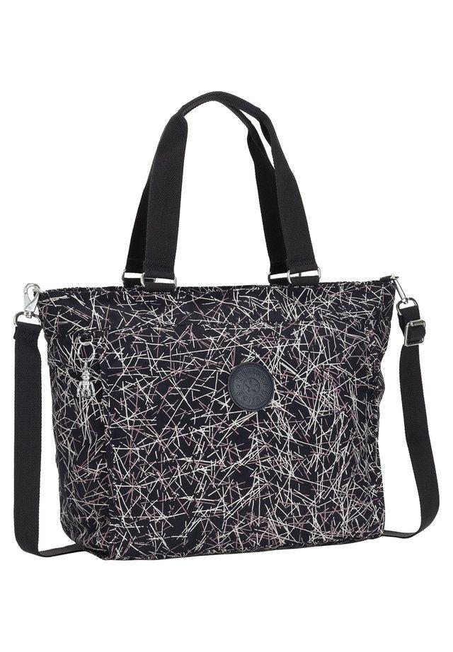 Tote bag - navy stick print [q56]