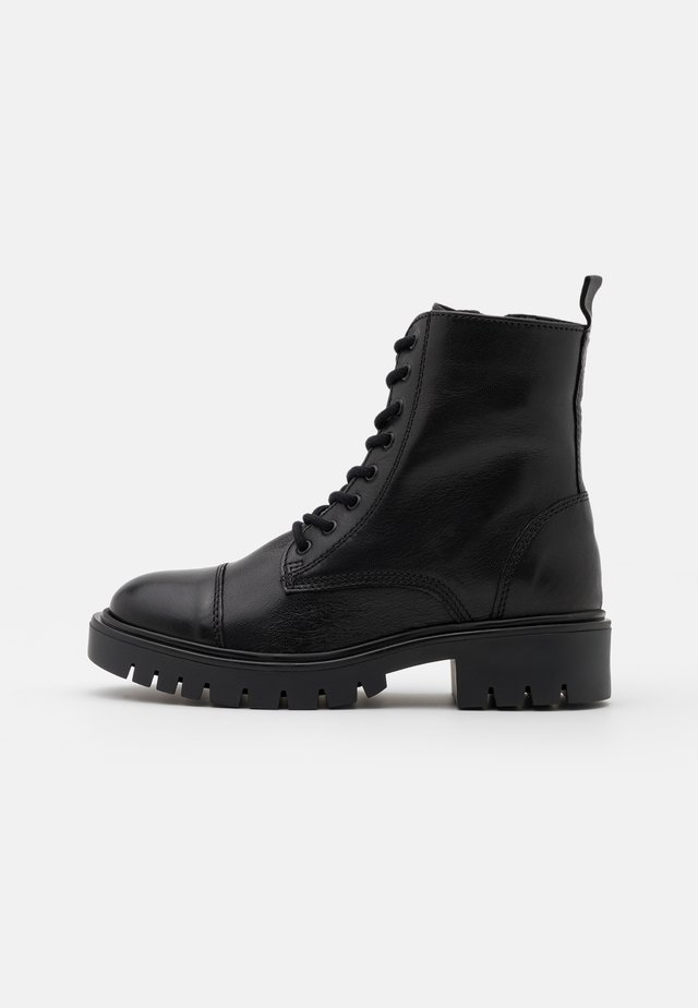 REILLY - Lace-up ankle boots - black