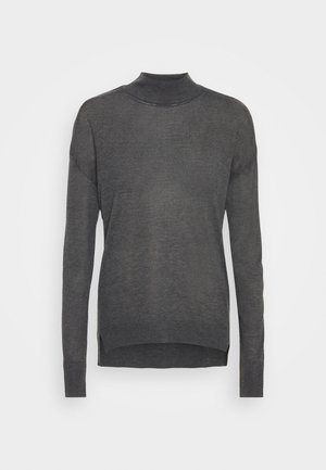 TALL HIGH NECK JUMPER - Jumper - charcoal