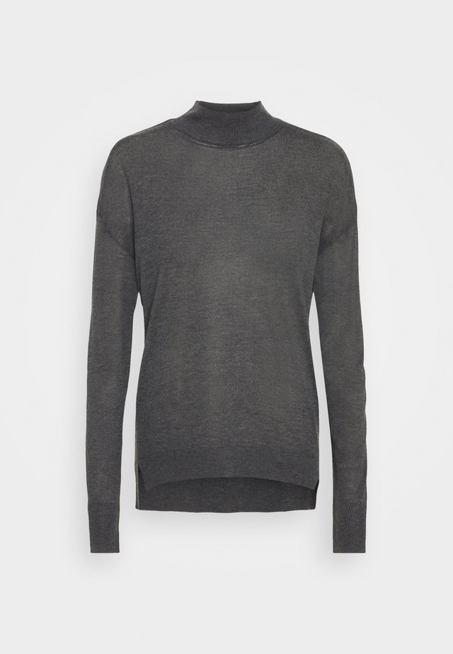 TALL HIGH NECK JUMPER - Neule - charcoal