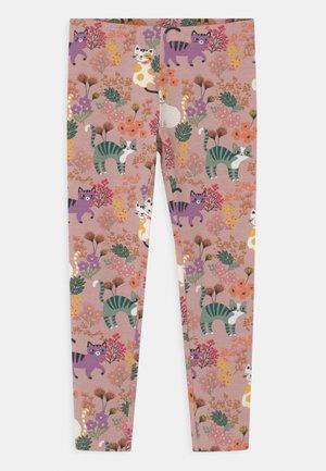 MINI PRINT CATS - Leggings - Trousers - dusty pink
