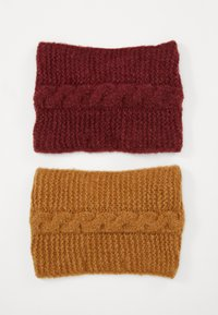Zign - 2 PACK - Ear warmers - nude/bordeaux - 1