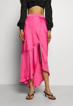 ASYMMETRIC SLIP SKIRT - Maxi sukně - doll pink