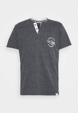 COLORFUL NEP HENLEY - Print T-shirt - tarmac grey