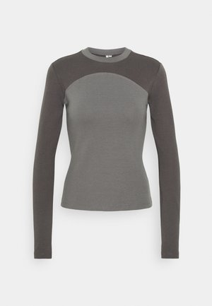 Long sleeved top - gray/offblack