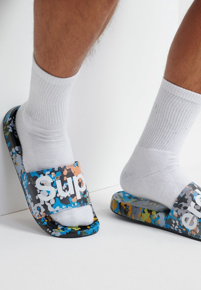 Superdry - PRINTED  - Pool shoes - splatter camo