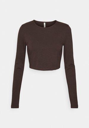 KEEP IT SIMPLE CROP - Long sleeved top - brown