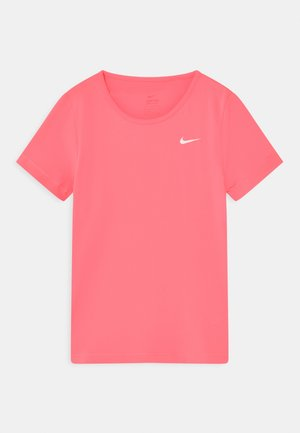 T-shirt basic - sunset pulse/white