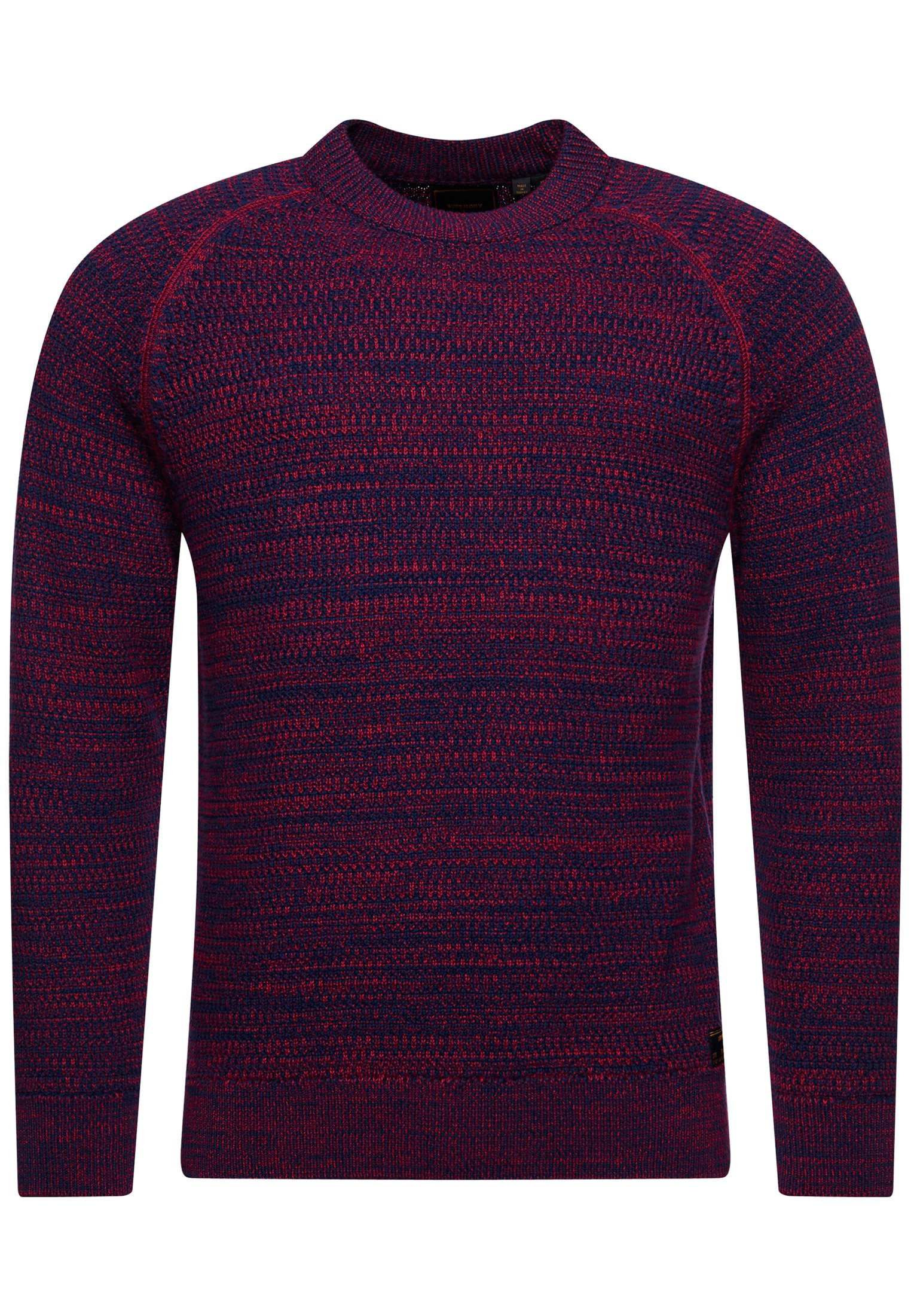 Stickad tröja navy red twist