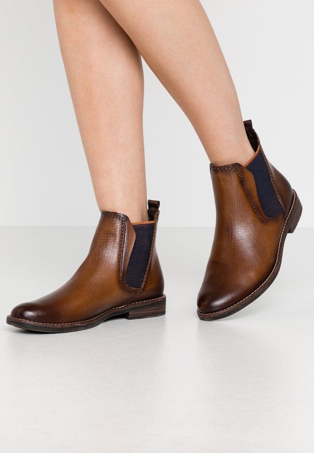 Boots à talons - cognac lizard
