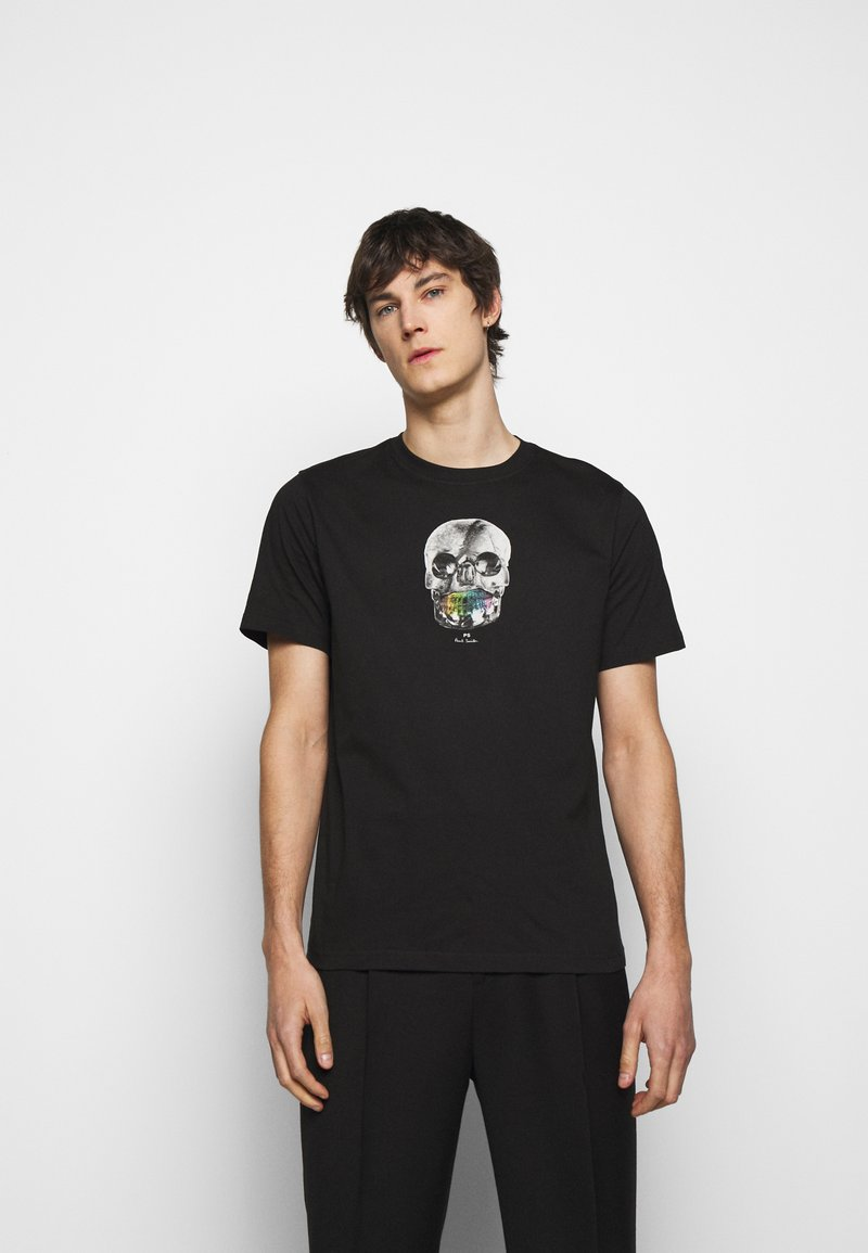 PS Paul Smith - MENS REGULAR  FIT SKULL - Print T-shirt - black