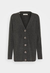 Selected Femme Petite - STACEY - Cardigan - dark grey melange - 0