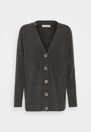 STACEY - Cardigan - dark grey melange