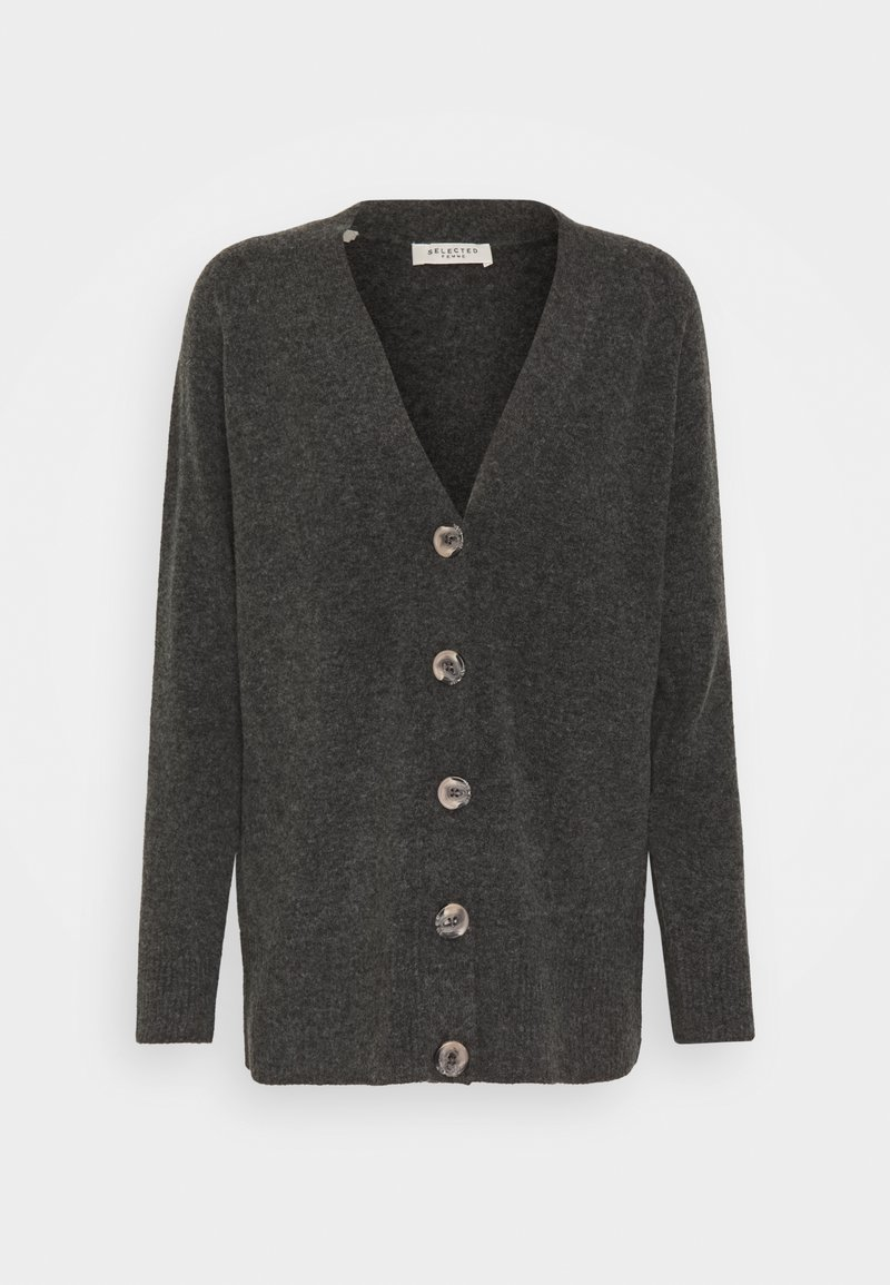 Selected Femme Petite - STACEY - Cardigan - dark grey melange