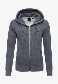 Superdry - VINTAGE LOGO EMBROIDERED  - Zip-up sweatshirt - rich charcoal marl - 3