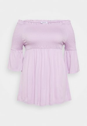 SHIRRED BARDOT TUNIC - Blouse - lilac