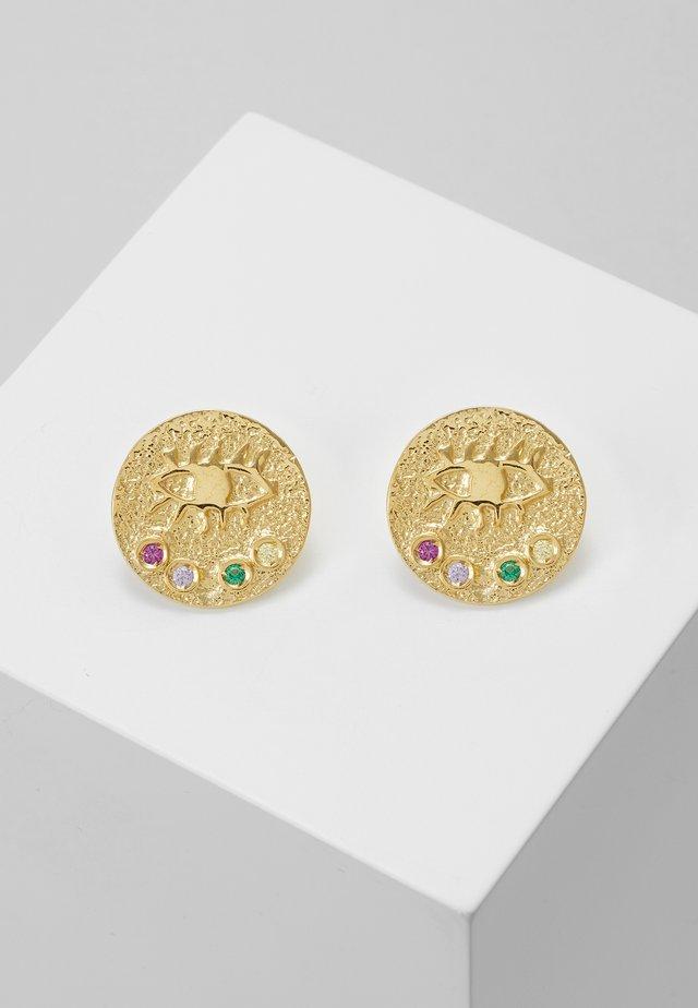 KRESSIDA SMALL PIN EARRINGS - Øreringe - gold-coloured/multi