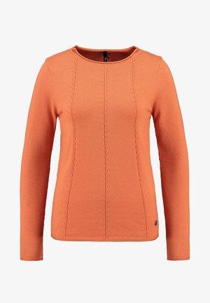 Long sleeved top - burned orange