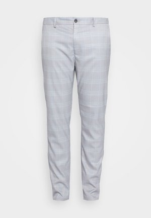 HERI CHECK - Suit trousers - light blue