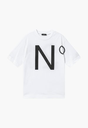 OVER MAGLIETTA - Print T-shirt - white
