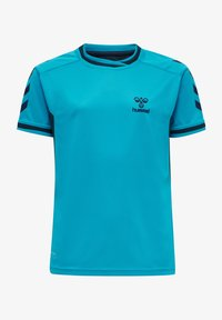 Hummel - HMLACTION POLY JERSEY S/S KIDS - Print T-shirt - atomic blue/black iris - 0