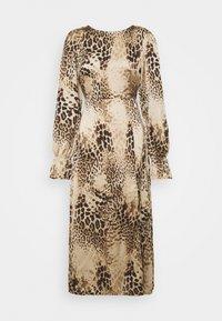 Missguided - PEN BACK MIDI DRESS  - Day dress - brown - 4