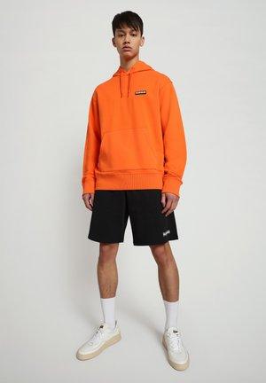B-PATCH HOOD - Hoodie - orangeade