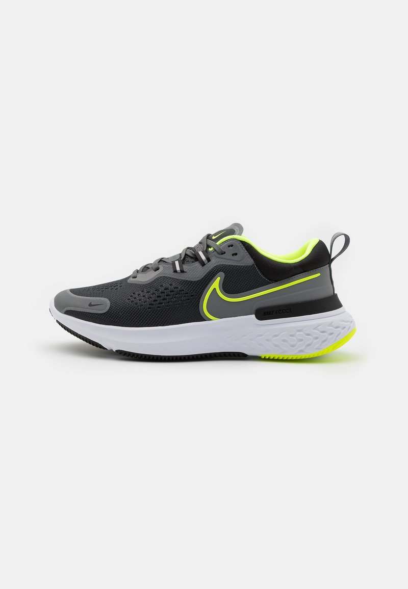 Nike Performance - REACT MILER - Neutrala löparskor - smoke grey/volt/black