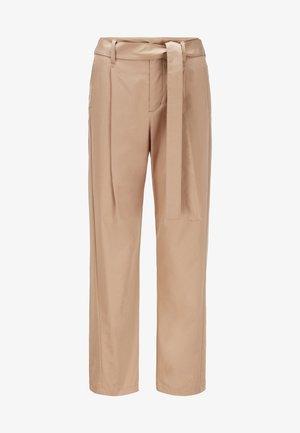 TERMINE - Trousers - beige