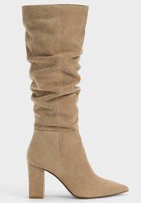 Bershka - IN KNITTEROPTIK  - Boots - beige - 5