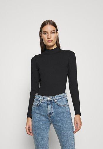 SEAMLESS MOCK BODYSUIT  - Long sleeved top - black