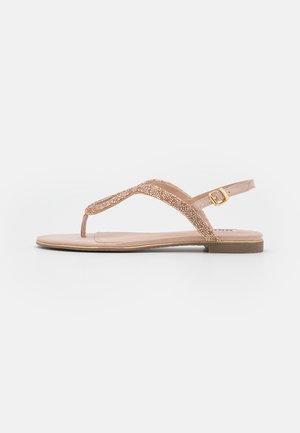 LONGLEY - T-bar sandals - nude