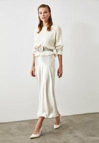 Trendyol - A-line skirt - silver - 0