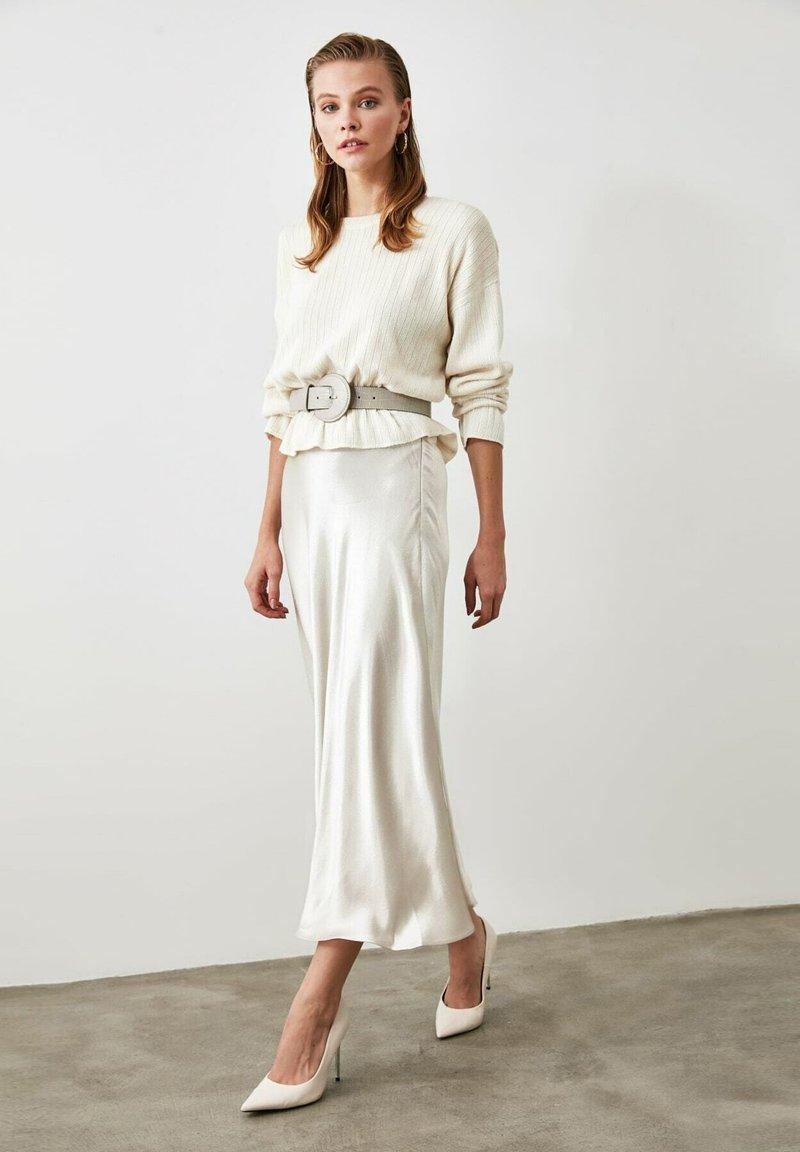 Trendyol - A-line skirt - silver