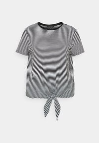 Lauren Ralph Lauren Woman - GENARO SHORT SLEEVE - Basic T-shirt - black/white - 4