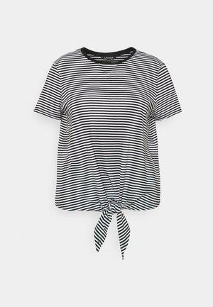 GENARO SHORT SLEEVE - Basic T-shirt - black/white